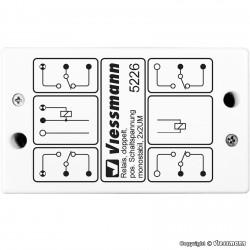 Relais / Relay, monostable, 2 x 2UM, Positive switching impulse