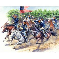 Attack, 8th Pennsylvania Cavalry 89th Regiment, American Civil War 1/35