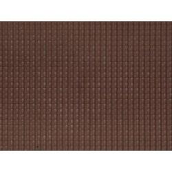 Feuille structurée 3D « Tuile flamande » Rouge foncé / Pantile, dark red
