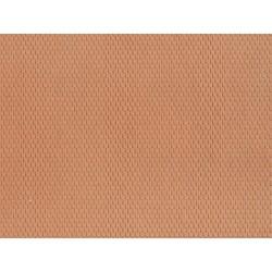 Feuille structurée 3D « Tuile plate » / Plain Tile, red