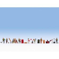 Figurines thématiques « Un jour en hiver » H0