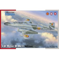 A.W. Meteor NF Mk.11 'NATO Users', Décals Belges, 1/72
