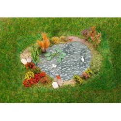 Jardin d'agrément avec étang / Pleasure garden with pond H0