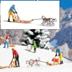 Traineau et Chiens / Dog Sledge H0