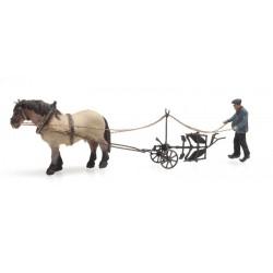 Charrue et cheval / Horse and Plough N