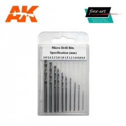 Set de Mèches / Drills Set 0.5mm - 3.0 mm