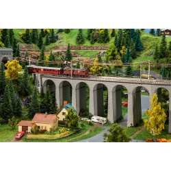 Coffret Viaduc, 2 voies, rectiligne / Viaduct set, two-track, straight N