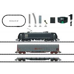 Coffret de départ Digital Loco Electrique 185 MRCE et Wagons Marchandises N