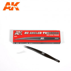Brucelles HD Angled Tweezers, Thin Tipped