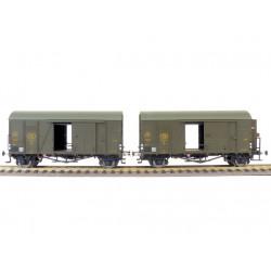 Set de 2 Wagons Ouverts (EX20126A) Nr. 3325106 et (EX20126B) Nr. 3327212, Bruns, SNCB H0