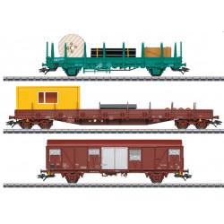 Coffret de wagons utilitaires SNCB, H0