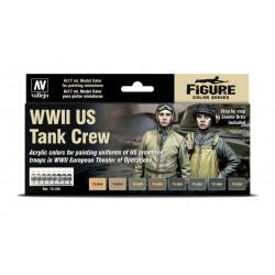 Model Colors US Tank Crew, WWII (8*17ml)