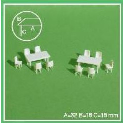 2 tables + 10 chaises 1/50