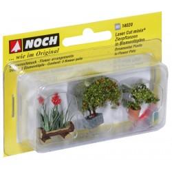 3 pots de fleurs H0