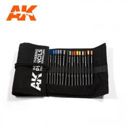 37 Crayons Weathering dans leur étui / Weathering Pencils Full range case