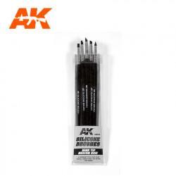 Silicone Brushes Medium Hard Tip Small Size