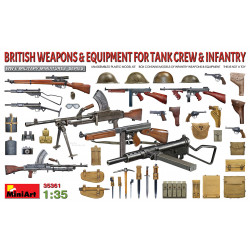 British Weapons & Equipment for Tank Crew & Infantry 1/35