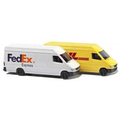 Set 2 Camionnettes DHL & Fedex N
