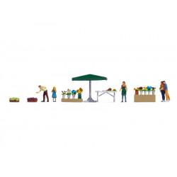 "Themed Figures Set ""Flower Stall"" H0"