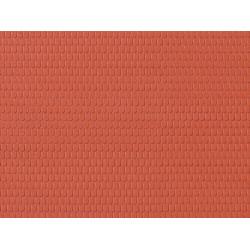 1 Plaque de décor Briques Rouges / 1 Decor sheet Red Bricks, H0