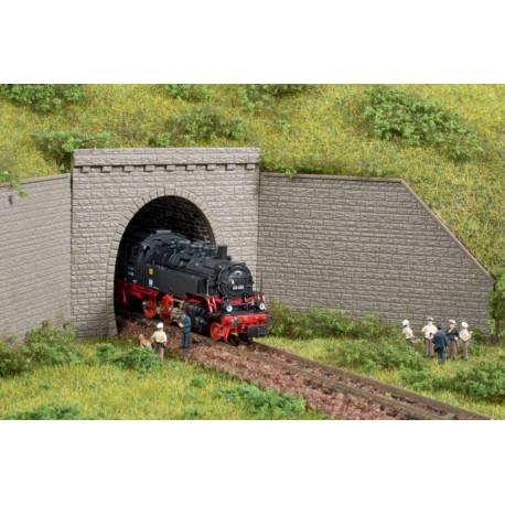 2 Entrées de Tunnel 1 voie / 2 Tunnel portal single track N