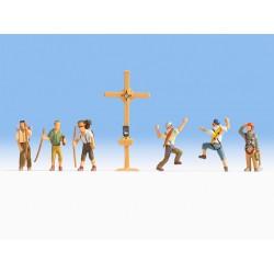 Randonneurs avec croix / Mountain Hikers with Cross H0