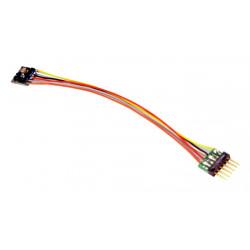 LokPilot Décodeur MICRO V5.0 NEM 651, 6 pôles + câble, DCC