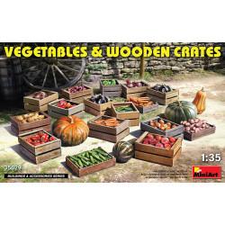 Vegetables & Wooden Crates 1/35