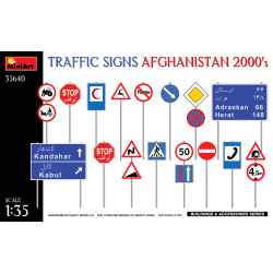 Traffic Signs Afghanistan 2000's 1/35