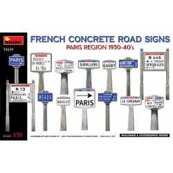 French Concrete Road Signs Paris Region '30-40's 1/35