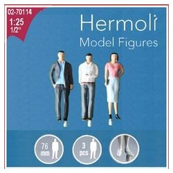 Hermoli 3 personnages peints / 3 Figures painted 1/25