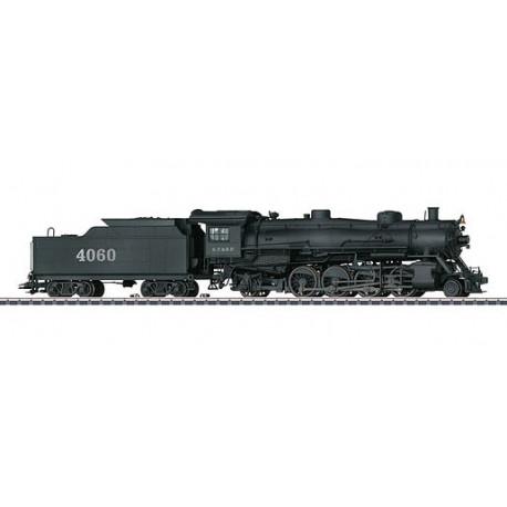 """Locomotive rapide pour trains marchandises type 2-8-2 Light """"Mikado"""" de la Atchison, Topeka & Santa Fe Railway (A.T. & S.F.)"""