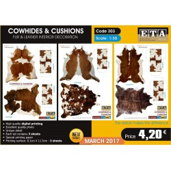 "Tapis de décoration ""Peau de vache"" / Cow hide carpet 1/35"