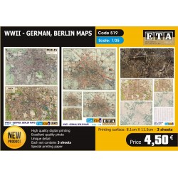 German Berlin Maps WWII 1/35