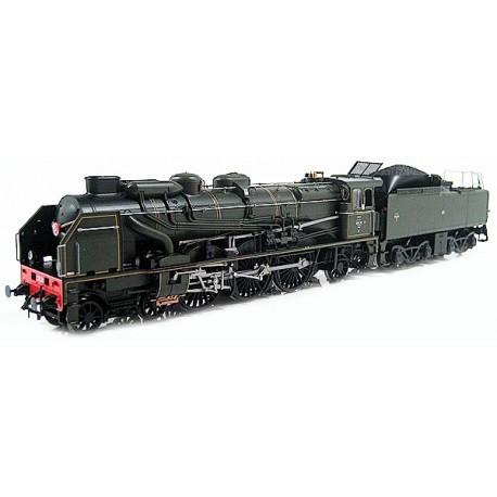 Locomotive à vapeur 231 e30 37a 114 du depôt de la Chapelle