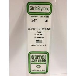 Quart-rond / Quarter Round 1 mm (5pces)