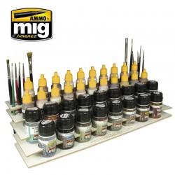 Rangement pour pinceaux et flacons / Workbencher organizer