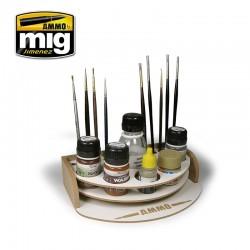 Mini rangement pour pinceaux et flacons / Mini workbencher organizer