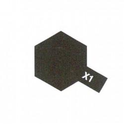 X1 Noir brillant acrylique pot de 10ml