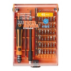 Set de 45 tournevis à visser et dévisser / 45 screw and unscrew drivers set