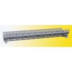 Pont à colombages en acier, 1 voie / Framework steel girder bridge, single track H0