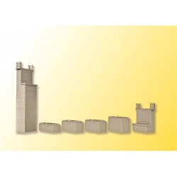 Piliers universels / Universal brick-built bridge piers (2pces) H0