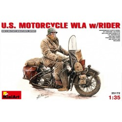 US motorcycle WLA w/ rider 1/35