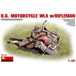 US motorcycle WLA & rifleman 1/35