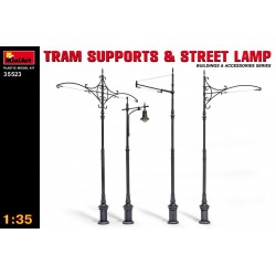 Tram supports & streets lamps 1/35
