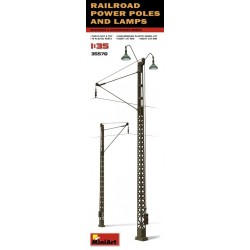 Railroad power poles & lamps 1/35