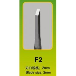 Ciseau Plat / Flat Chisel F2, Ø 2 mm