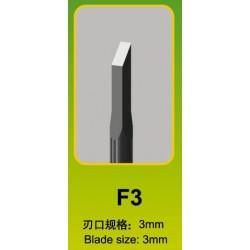 Ciseau Plat / Flat Chisel F3, Ø 3 mm