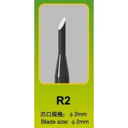 Ciseau Rond / Round Chisel R2, Ø 2 mm