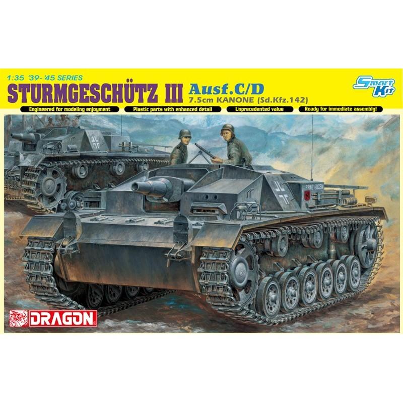 Sturmgeschutz 7 5cm Kanone  Sd Kfz 142  Ausf C  D  Smart